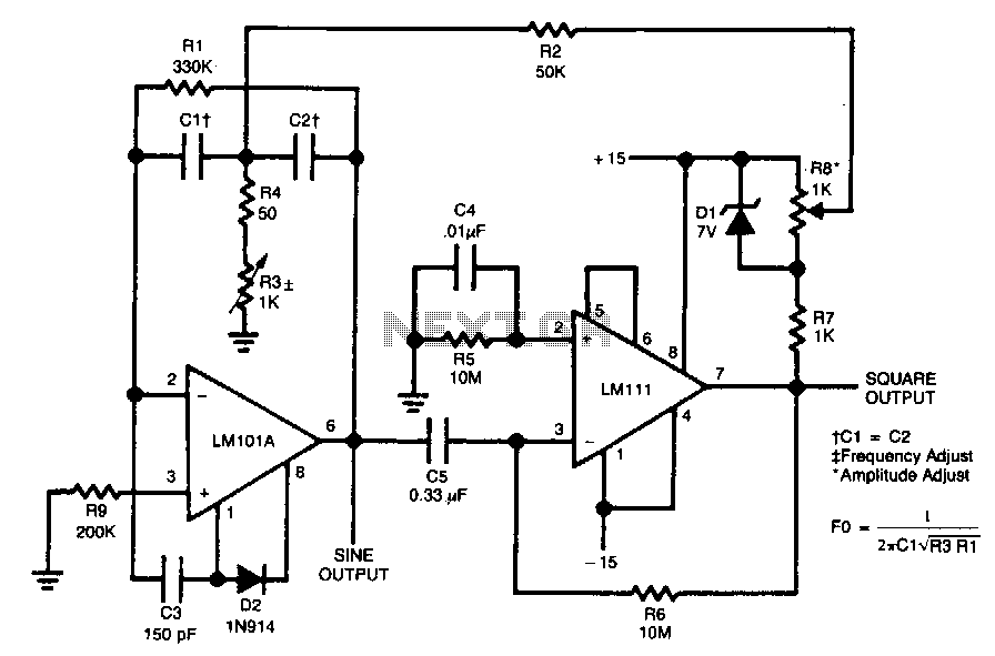 square wave generator using op-amp