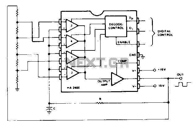 Free-running-multivibrator - schematic