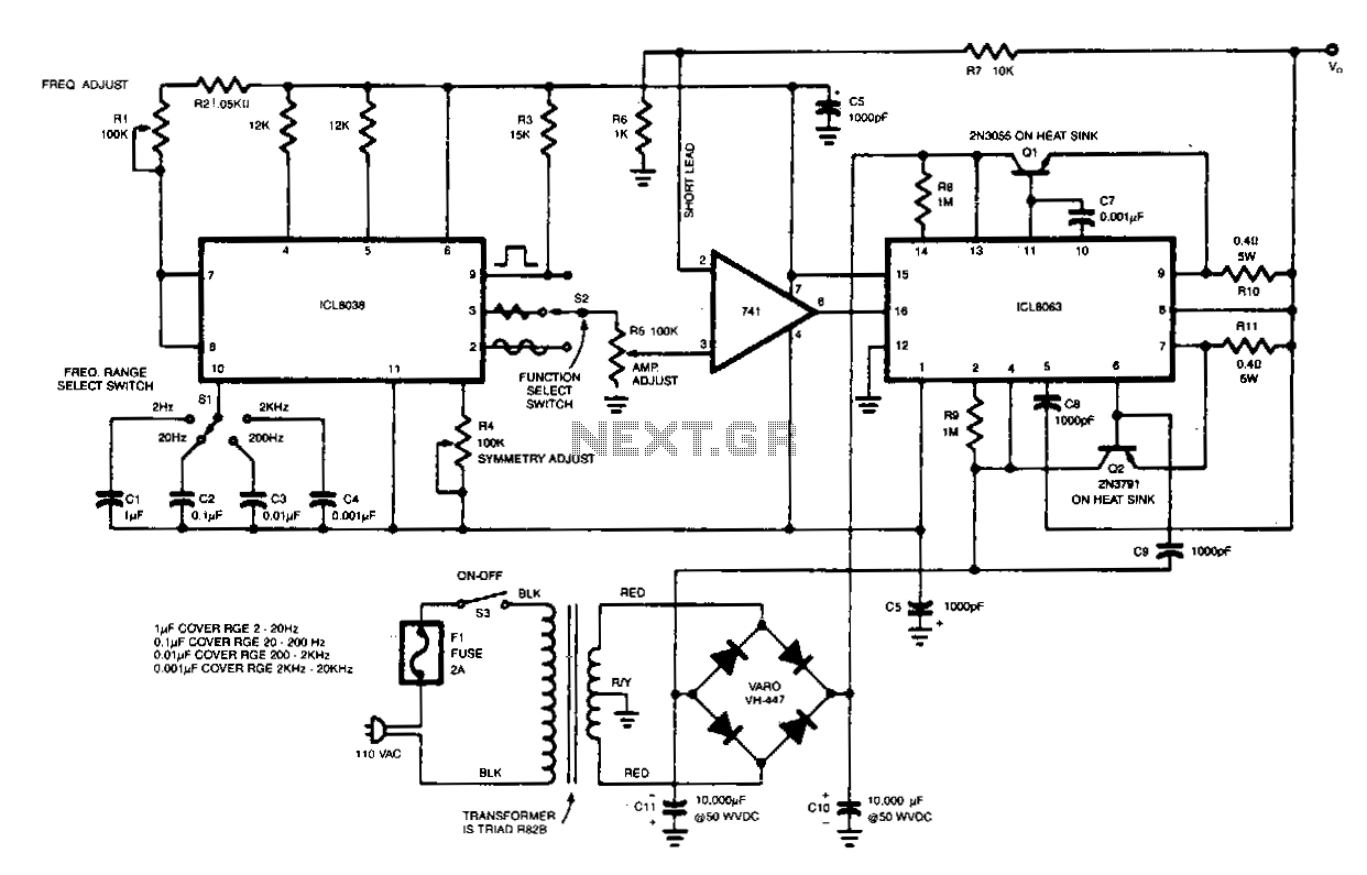 Signal Generator Schematic Wiring Library Low Battery Indicator Circuit Diagram Tradeoficcom Function