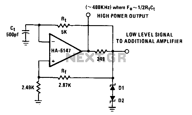 Astable-multivibrator - schematic