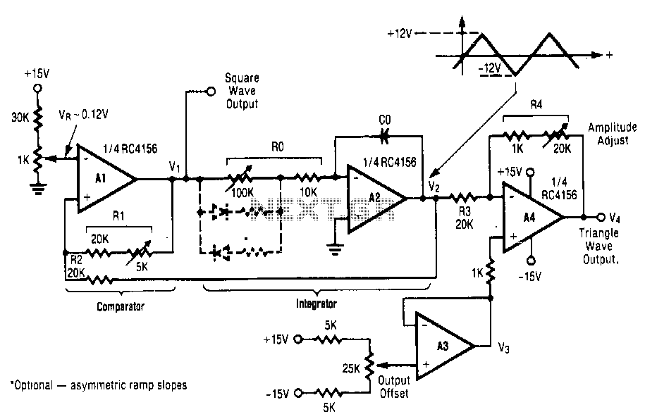 Triangle-square-wave-generator
