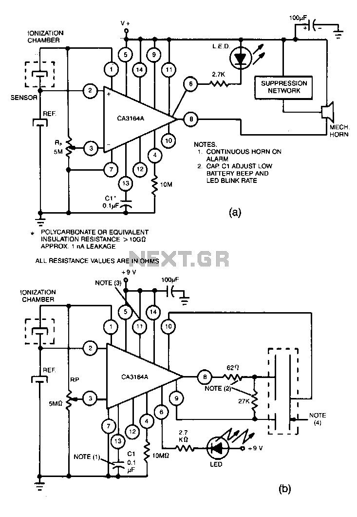 Smoke-detector - schematic