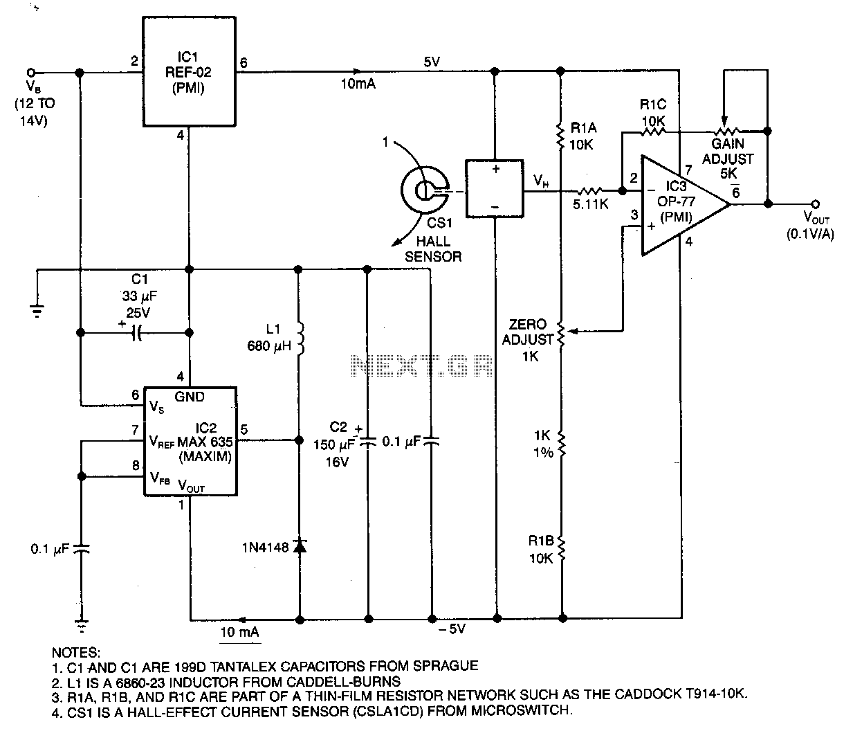 Hall Effect Circuit Sensors Detectors Circuits Diagram Water Level Indicator Current Monitor
