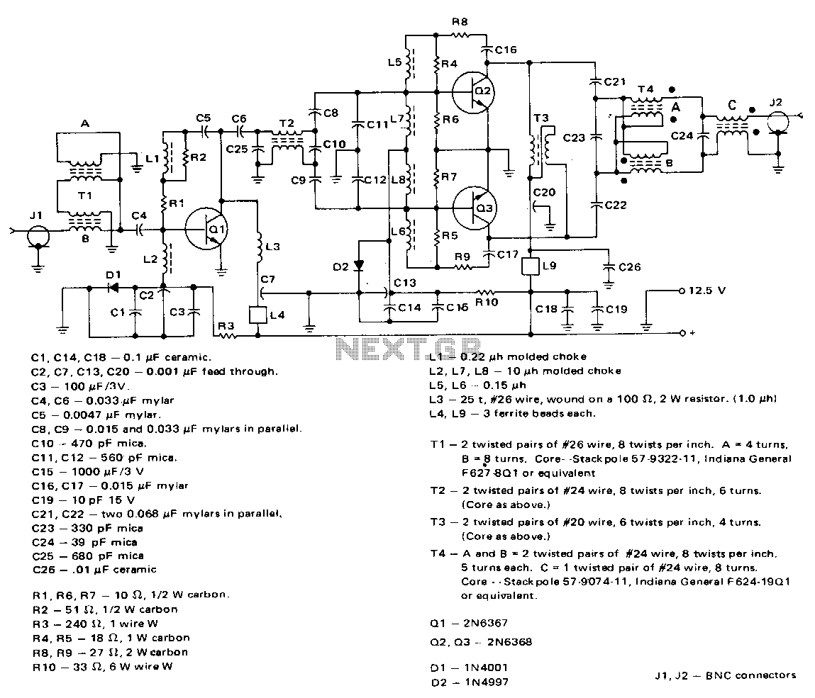 80W-3-30mhz-amplifier - schematic