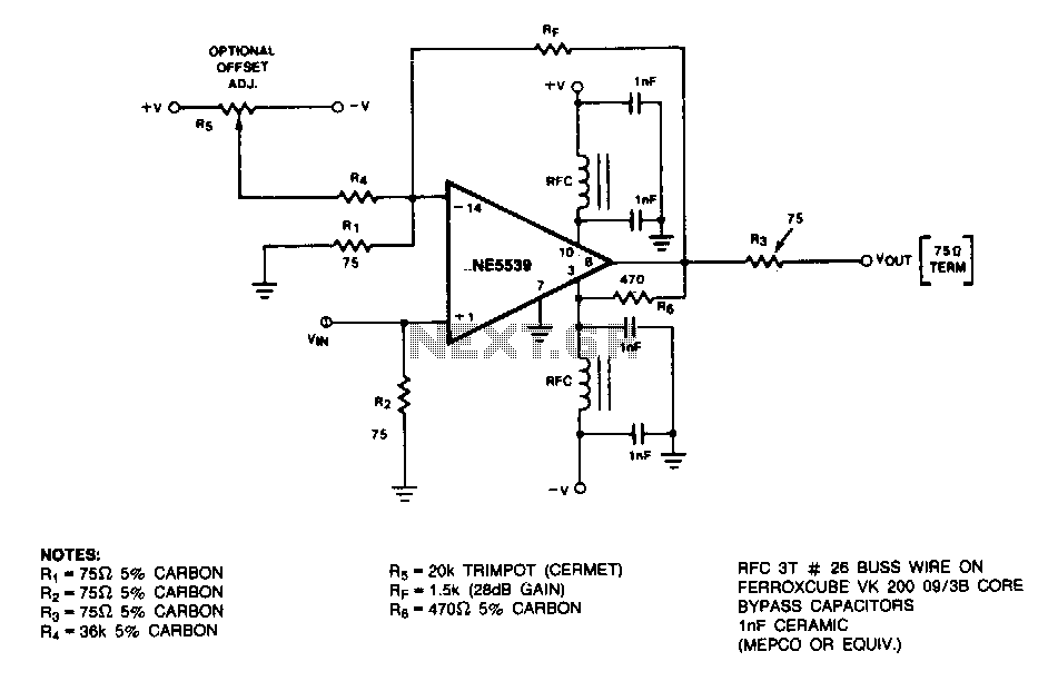 28Db-noninverting-amplifier