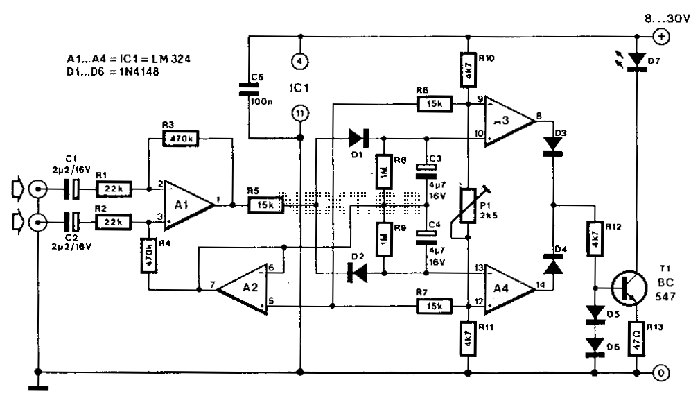Stereo-indicator - schematic