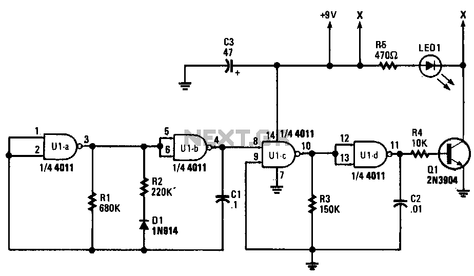 Digital-ir-transmitter - schematic
