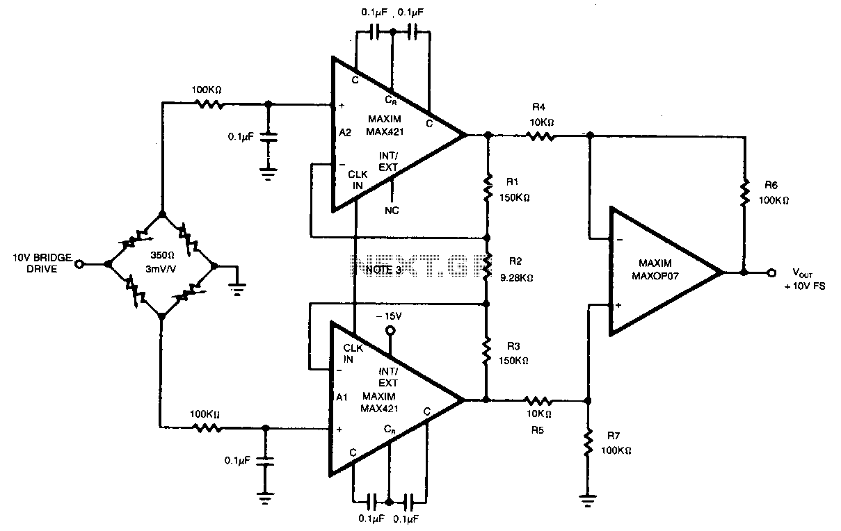 strain-gauge-instrumentation-amplifier under buffer circuits