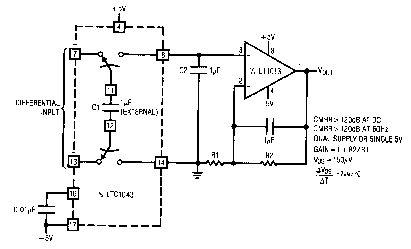Instrumentation-amplifier - schematic