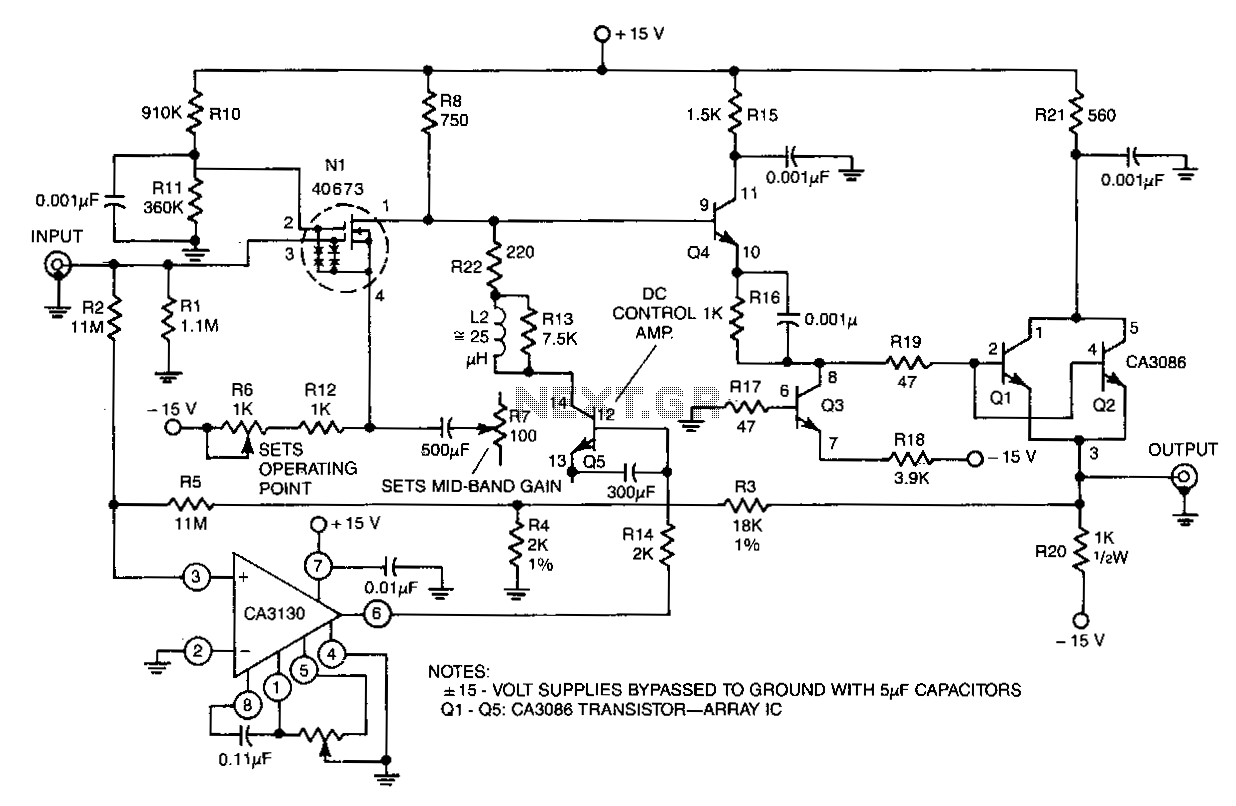 Wideband-instrumentation-amplifier