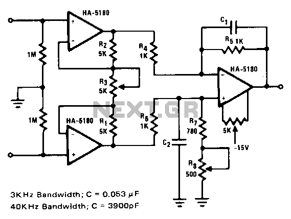 Differential-instrumentation-amplifier