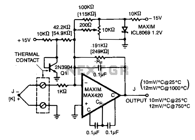 Thermocouple-preamplifier - schematic