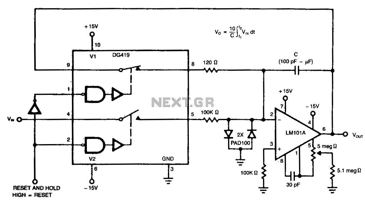 Resettable integrator - schematic