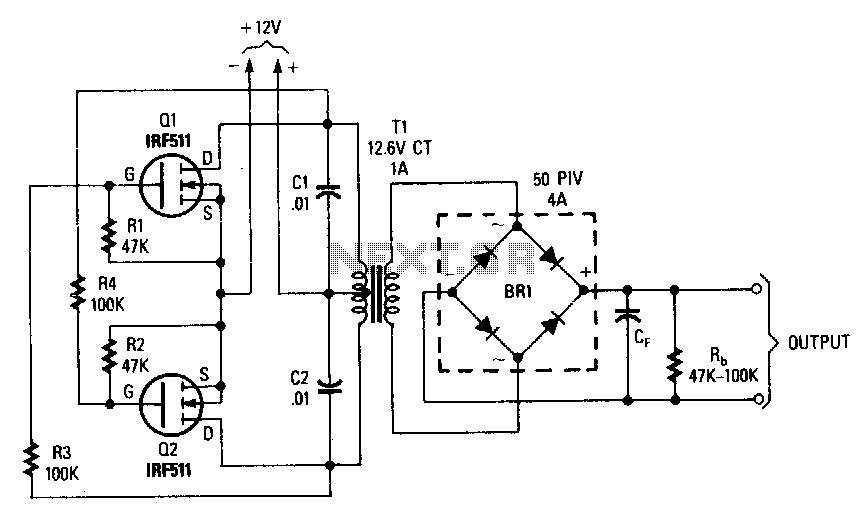 Power-mosfet-inverter - schematic
