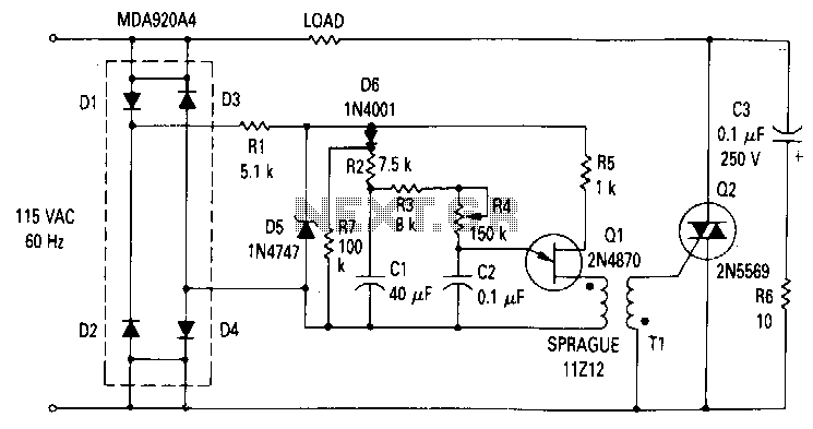 800W-soft-start-light-dimmer - schematic