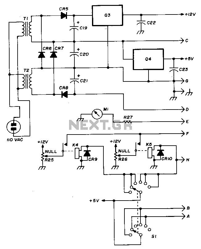 Wide-range-rf-power-meter - schematic