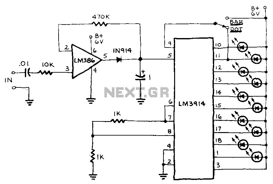 Led-peakmeter - schematic