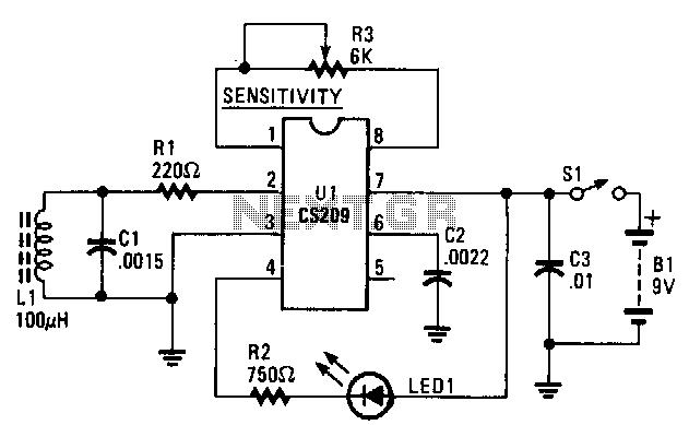 Stud-finder - schematic