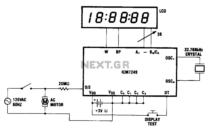 Motor-hour-meter - schematic