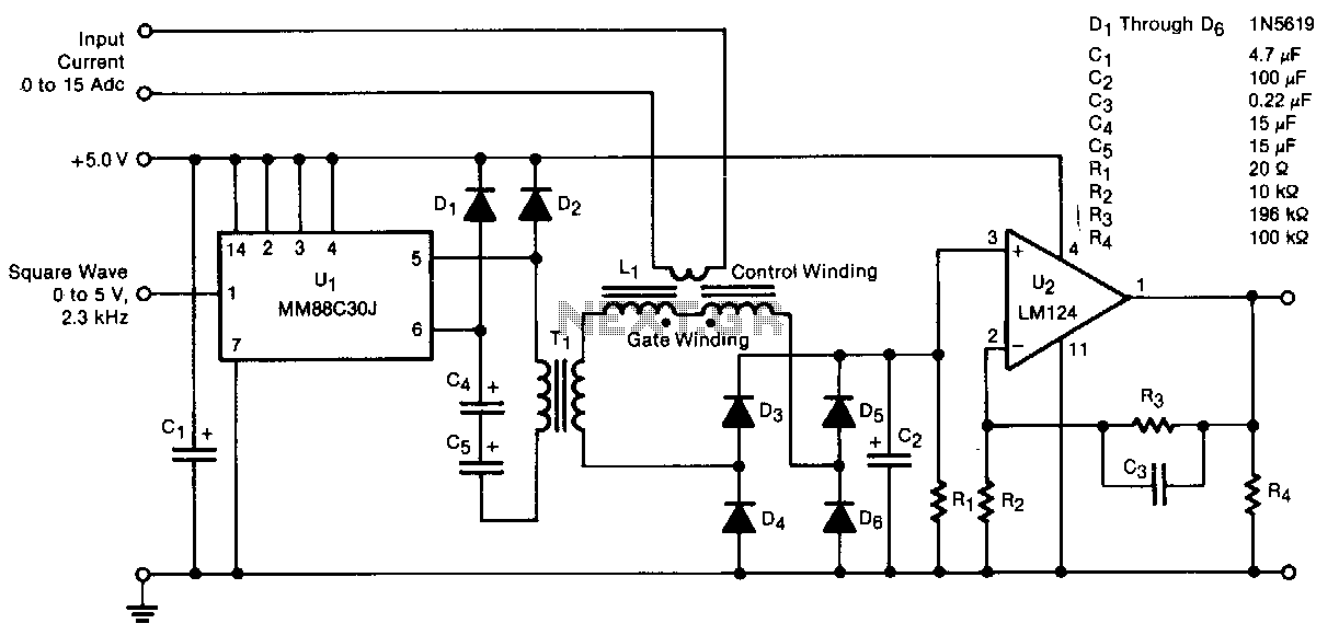 Low-power-magnetic-current-sensor - schematic