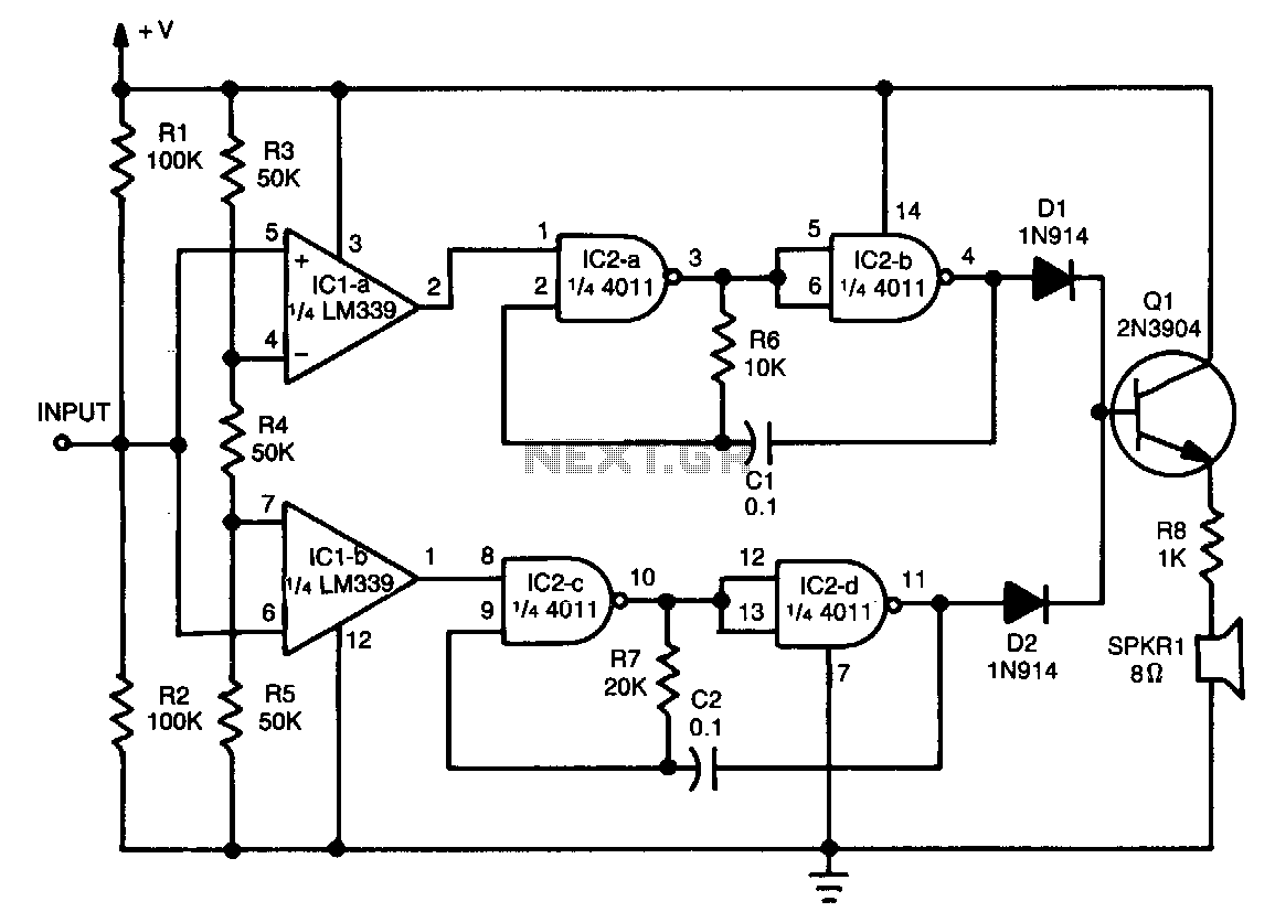 Audible-logic-tester - schematic