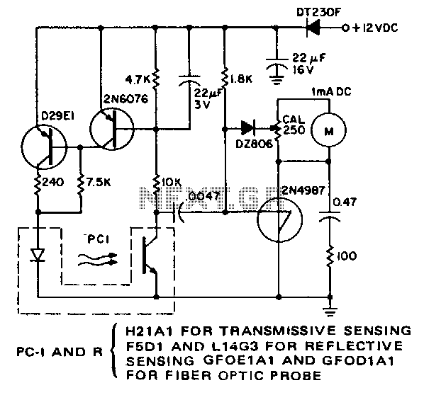 Optical-pick-up-tachometer - schematic