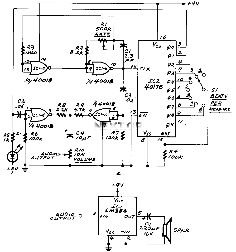 Audio Effect Circuit Page 2 Circuits Arduino 3 Microcontroller Nextgr Downbeat Emphasized Electronic Metronome