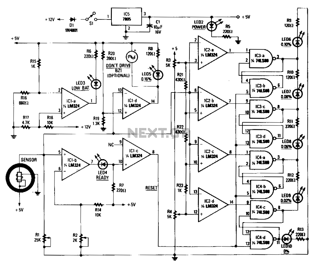 Breath-alert-alcohol-tester - schematic