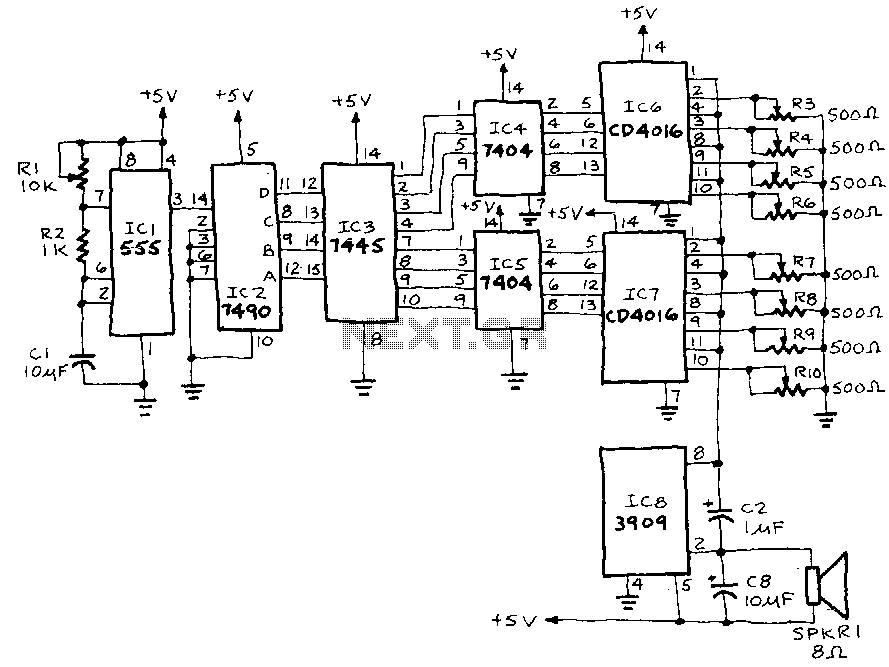 Electronic-music - schematic