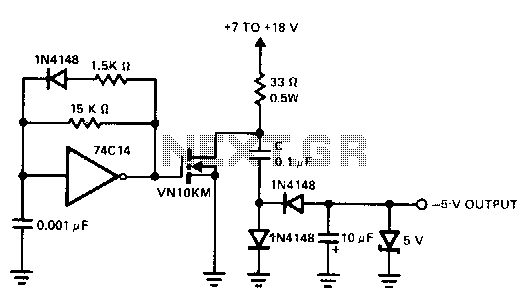 positive-input-negative-output-charge-pump under mosfet circuits