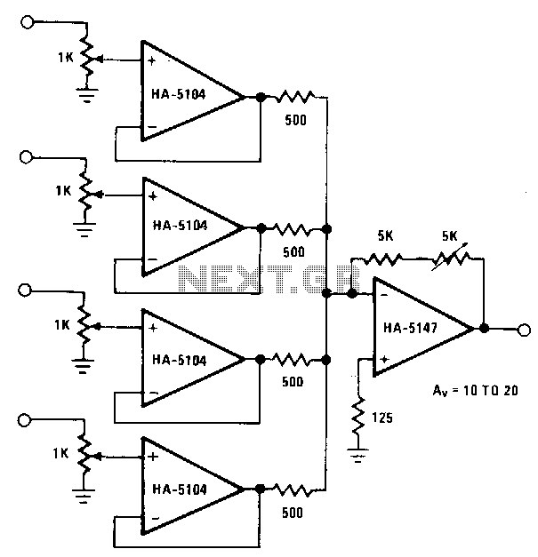 Input-buffered-mixer - schematic