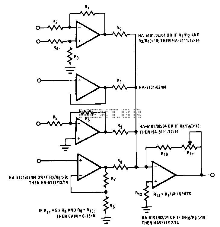 Universal-mixer-stage - schematic