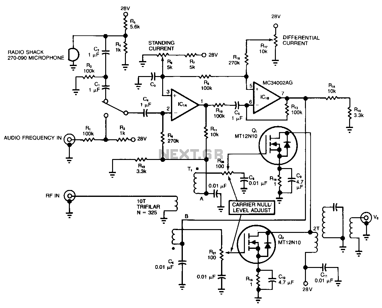 video modulator circuit video circuits next grAudio Video To Uhf Tv Signal Converter Modulator Circuit Diagram #9
