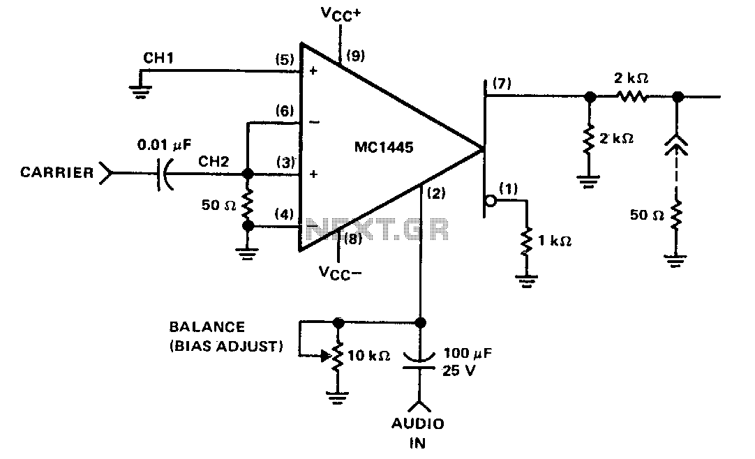 Balanced modulator single Gilbert Cells