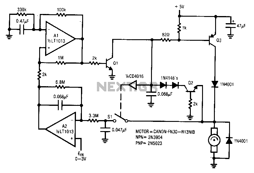 Tachless-motor-speed-controller - schematic