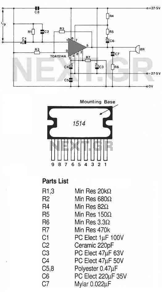 40 Watt Hi-Fi amplifier (TDA1514AN-7) - img1
