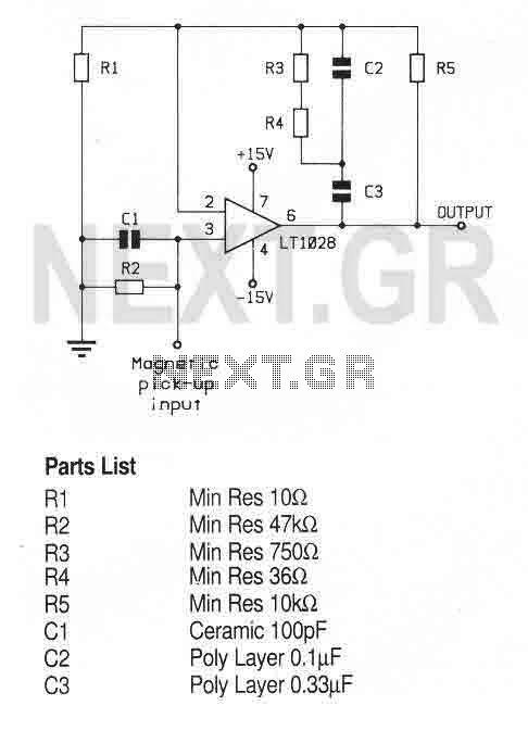 Magnetic Cartridge Preamplifier (LT1028CN8) - img1