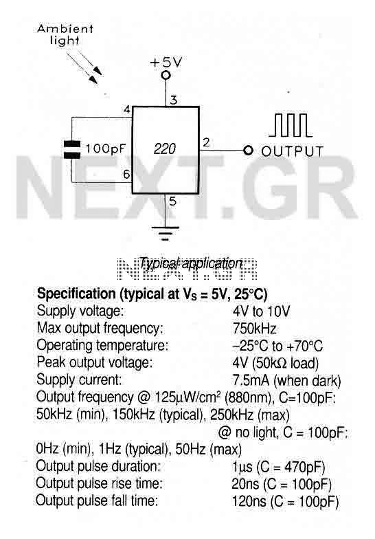 Light to Frequency Converter TSL220