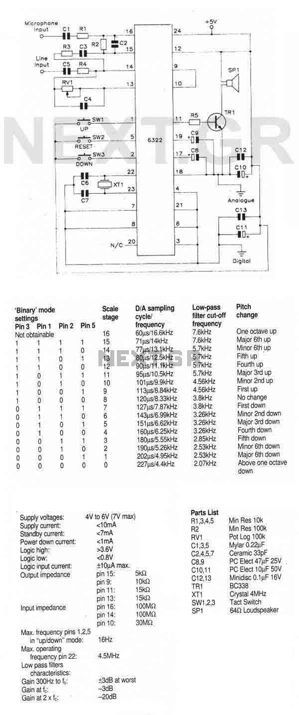 Speech Pitch Controller (MSM6322GSK) - img1