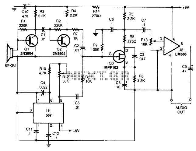 Ultrasonic Bat reciever - schematic