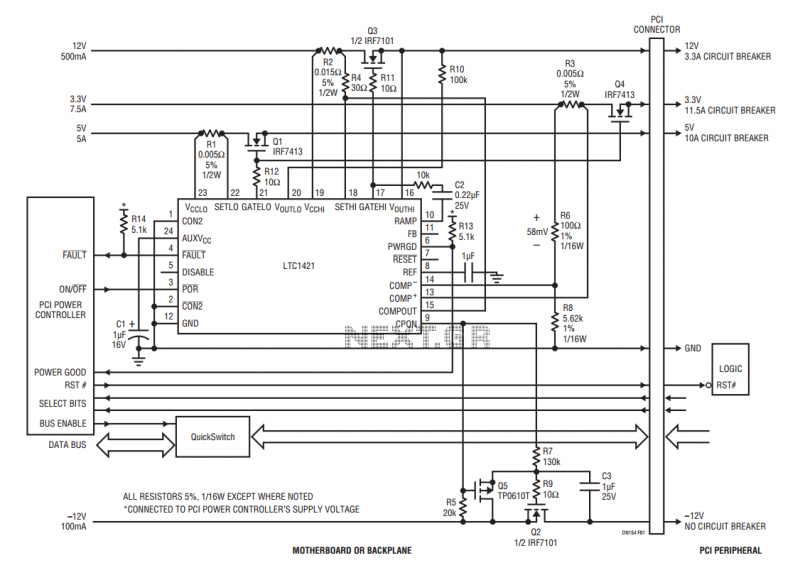 Hot Swapping the PCI Bus - schematic