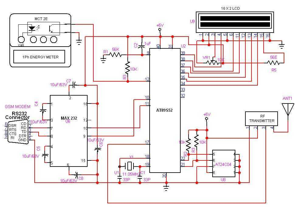 Gsm Automatic Meter Reading Under Rf Transmitter Circuits