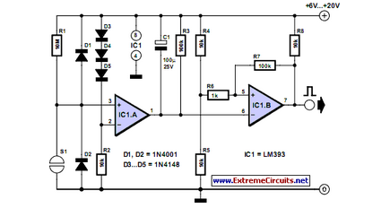 Electronic Touch Switch - schematic