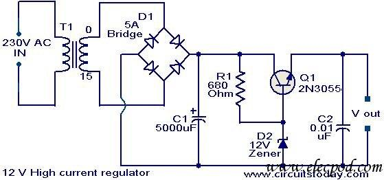 12V High current regulator