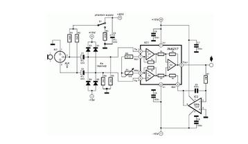 Balanced Microphone Amplifier - schematic