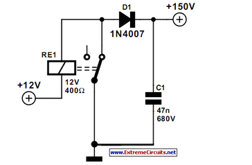 SMPSU With A Relay - schematic