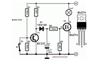 Car Interior Lights Delay - schematic
