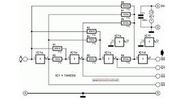 4-Bit Analog to Digital Converter - schematic