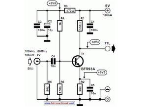 Sine Wave To TTL Converter - schematic