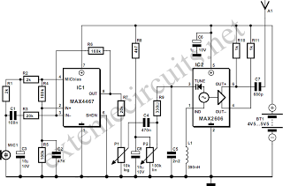 FM Wireless Microphone - schematic